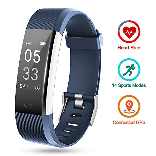 Lintelek Fitness Activity Tracker HR, Fit Watch Sleep Monitor Pedometer Calorie Counter, Sport Watch Fitness Gifts for Men, Women, Kids (Sleep And Step Tracker)