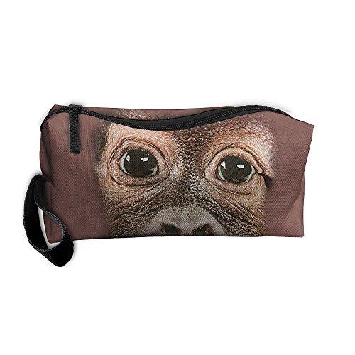 Big Face Baby Orangutan Pencil Pen Case Cosmetic Makeup - Dharma Von Zipper