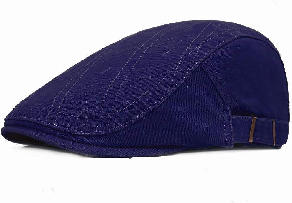 Hombres Boinas Sombrero, Moda Sombrero Plano Verano Sol Sombrero