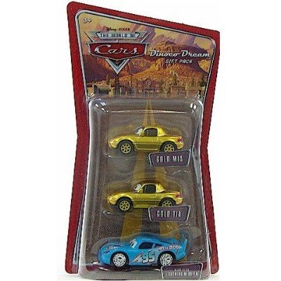 Mia Car (Disney Pixar Cars Gold Mia & Tia Bling Bling McQueen (Dinoco Dreams Gift Pack))