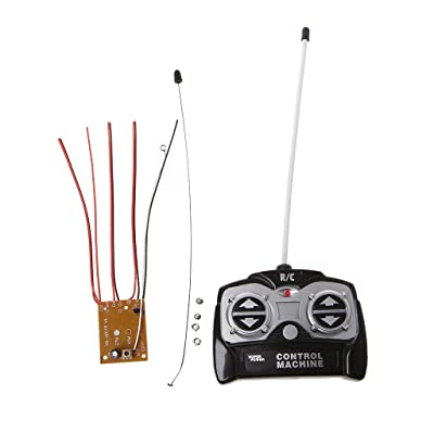 Aoaoingy 5CH 27Mhz Remote Controller Unit Receiver Board+Remote Control for Tank Car Toy Radio System for 130 Motor 6V 5V: Toys & Games