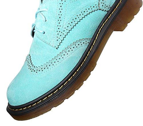 Femme Blue à Lacets Ville pour Minotta Baby de Sueded Chaussures wxqH6zY6R