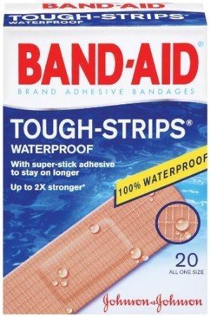 Bandages Extra Large Tough Strips - BAND-AID Waterproof Tough-Strips Bandages 20 ea (Pack of 6)