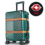 WELOVE Lightweight Luggage Sets Hardside Spinner Trolley Expandable Luggage Bag for Travel and Business Luggage Set 20'' (Dark Green)