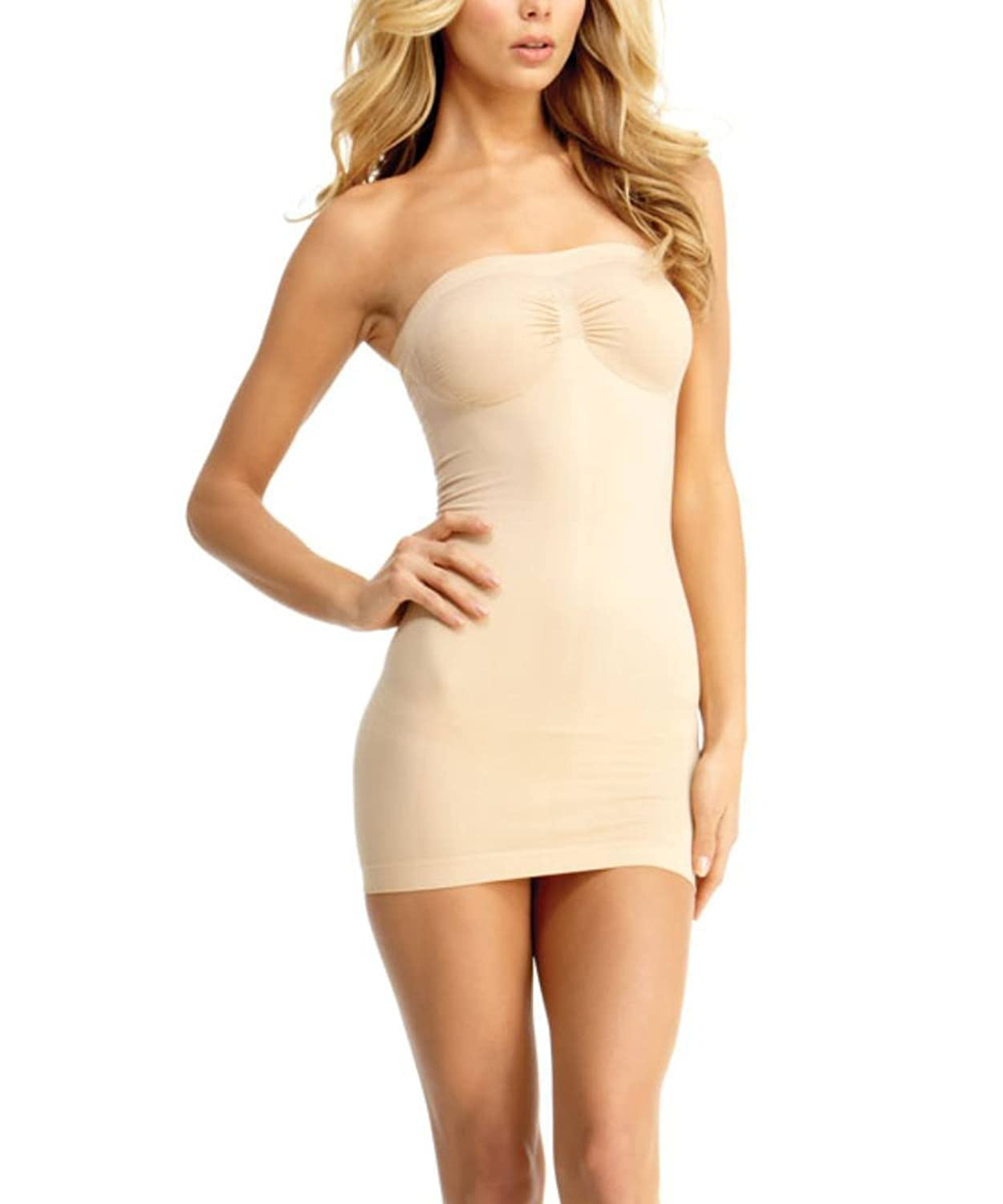 66ee2370d349a shapewear-full-slips closure. Straight bandeau neckline. Targeted control  for tummy