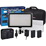 Canon XA35 Camcorder Lighting Vidpro Varicolor 312-Bulb Video and Photo LED Light Kit