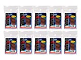 10 (Ten) Pack Lot of 100 Soft Sleeves / Penny Sleeve for Baseball