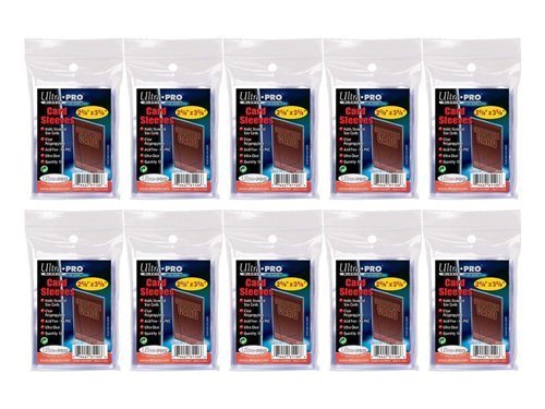 10 (Ten) Pack Lot of 100 Soft Sleeves / Penny Sleeve for Baseball Cards & Other Sports Cards (Packaging May Vary) -
