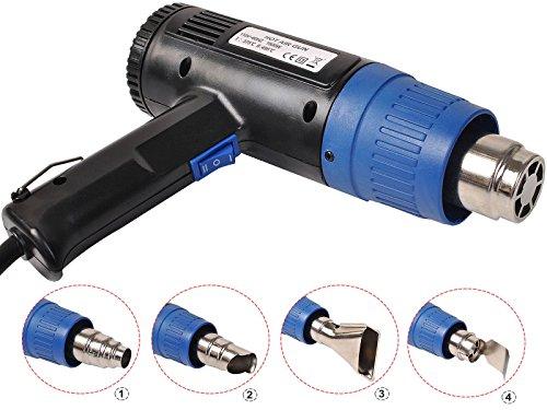 Heat Gun Hot Air Gun Dual Temperature+4 Nozzles Power Tool 1500 W Heater Gun:New by WW shop