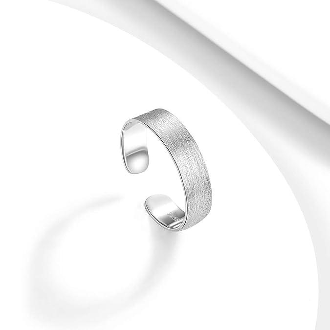 f18d3f4ff4a847 PROSILVER Anello Aperto Semplice Filigrana in Argento 925, Larghezza 5mm,  Regolabile da 12-27, Anello Fede Nuziale Fidanzamento Matrimonio  Anniversario, ...