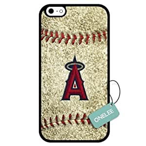 Onelee(TM) - Customized MLB Los Angeles Angels of Anaheim Team Logo Design TPU Apple iPhone 6 Case Cover - Black 03 by kobestar
