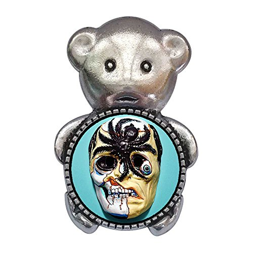Scary Bear Mask Cartoon - GiftJewelryShop Ancient Style Silver Plate Scary