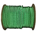 Shock Cord 3/16 inch - SGT KNOTS - Marine Grade Dacron Polyester Bungee - 100% Stretch - Moisture, UV, Weather Resistant - DIY Projects, Tie Downs, Commercial, Indoor, Outdoor (500 feet - Kelly Green)