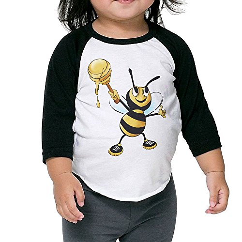 Susuha Cute Bees and Honey A Child's Sleeve Shoulder Shirt 5-6 Toddler