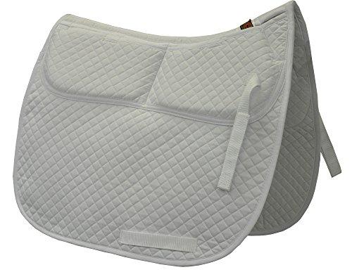 ECP Cotton Correction Dressage Pad - Memory Foam Pockets (White)