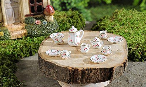 Mini World Fairytale Tea Party Figurine 17 Pieces 706562 Dollhouse Fairy Garden Review