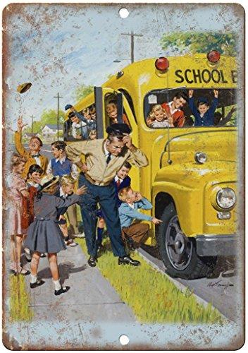 Vintage School Bus Elementary School 12