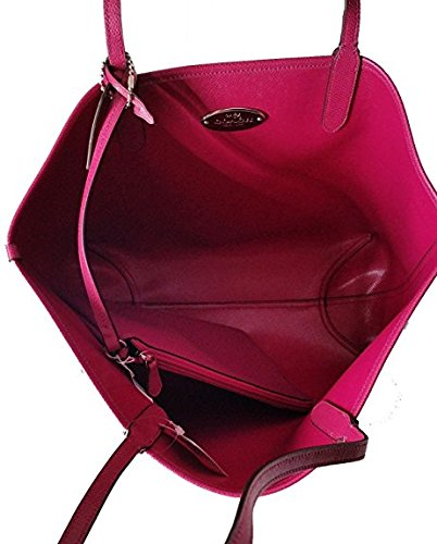 F36609 Burgundy City Reversible Tote PVC Coach Black Signature FqdC6zzn