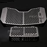 Motorcycle Accessories Radiator Grille Guard Cover & Oil Cooler Guard Cover for Yamaha MT-10 MT10 2016-2017