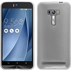 Funda de silicona para Asus Zenfone Selfie - transparente blanco - Cover PhoneNatic Cubierta + protector de pantalla