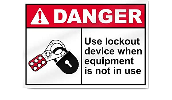 Amazon com: Yilooom Use Lockout Device When Equipment is Not