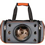 Cheap PetLoft Innovative Pet Carrier, Deluxe Soft Sided Top & Side Loading Foldable Pet Travel Carrier for Cats and Small Dogs (Medium, Orange)