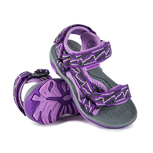 Weestep Toddler Little Kid Boys Girls Adjustable Strap Sandal (13 M US Little Kid, Purple) -