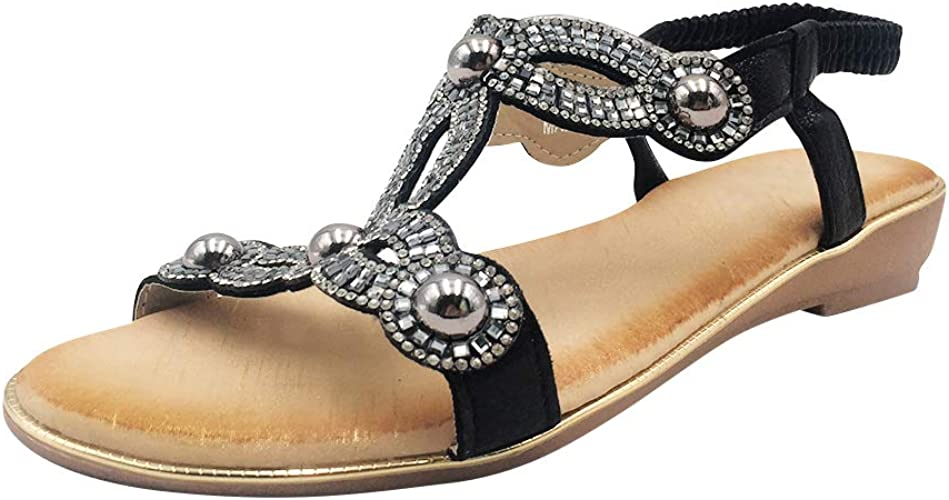 Bohême Femme Yudesun Chaussures Pointe Sandales Ouverte wN0O8nPXkZ