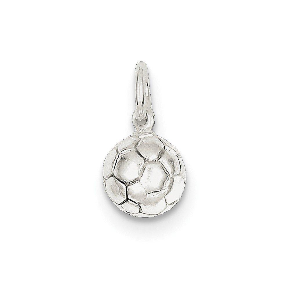9mm x 10mm Jewel Tie 925 Sterling Silver Soccer Ball Pendant Charm