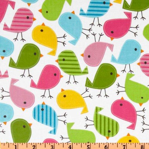 Robert Kaufman Urban Zoologie Slicker Laminated Cotton Chicks Fabric by The Yard, Garden