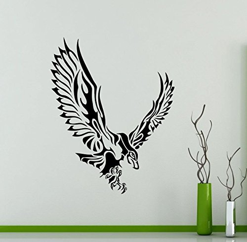Seahawk Wall Decal Sea Hawk Fish Eagle Osprey Vinyl Sticker Home Animal Bird Nursery Room Interior Art Decoration Kids Girl Room Mural Waterproof Vinyl Sticker (Hawks Rock Animal)
