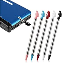 Insten 5-Piece Retractable Stylus Compatible With Nintendo 3DS XL Not compatible with New Version