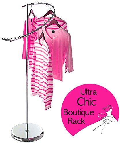 - Only Garment Racks 2358 Spiral Boutique Rack Only Garment Racks Semi Spiral Boutique Clothes Rack - Elegantly Displays Over Two Dozen Garments!