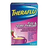 TheraFlu Nighttime Multi-Symptom Severe Cold Tablets, Apple Cinnamon, 6 Count