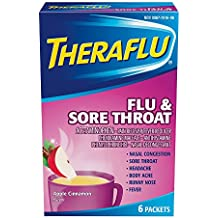 Theraflu Powder for Flu and Sore Throat, Apple Cinnamon  (6 packets)