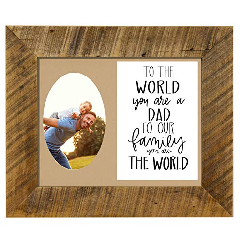 All Things For Mom to The World You are a Dad Picture Frame with Tan Mat ()