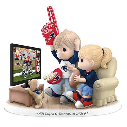 Figurine Precious Moments Every Day Is A Touchdown With You Patriots Figurine by The Hamilton Collection