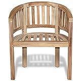 Festnight Wooden Garden Chair Banana Peanut Chair Teak