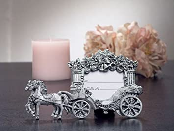 Amazoncom 2x3 Pewter Finish Place Card Frame Wedding Coach Set Of