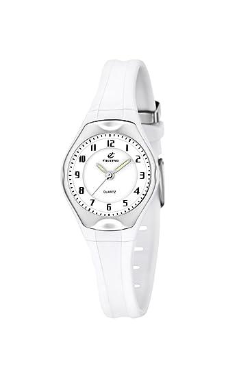 Calypso 5163/H - Reloj para niñas de cuarzo, correa de goma color blanco: Amazon.es: Relojes