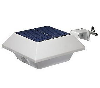 4er SET LED Solar Lampe für Dachrinnen Leuchten Hausbeleuchtung kaltweiß eckig