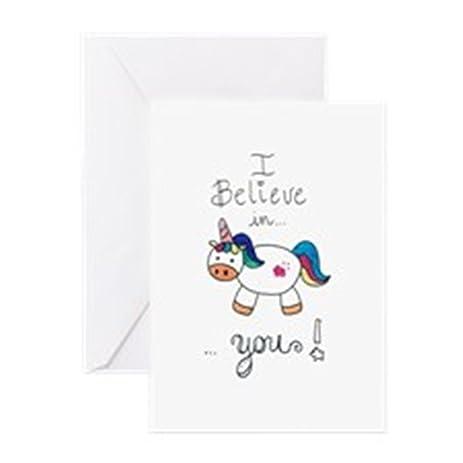 Amazon cafepress i believe in you unicorn greeting cards unicorn greeting cards greeting card note card m4hsunfo