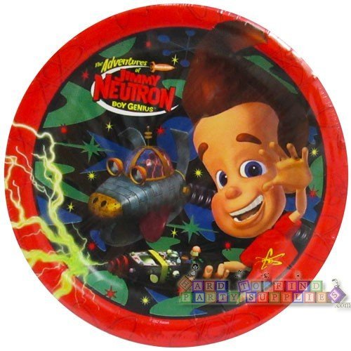 The Adventures of Jimmy Neutron Boy Genius Dinner Plates -