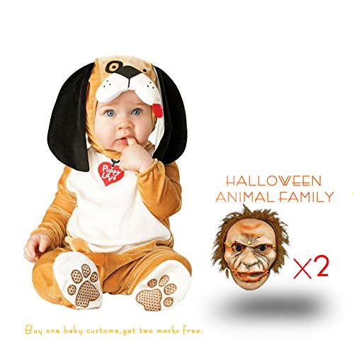 Unisex Kids Sized Halloween Baby Costumes Family Cosplay Animals-dog(S) (Family Halloween Costume Ideas With Infant)