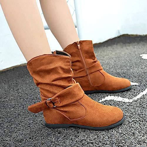 Femmes Femmes Ensemble Femme Shoes Flat Bottes Moyen Douces Style Marron Pieds sonnena Sneakers Vintage Booties Bottines Chaussures De AxdqwfFYA