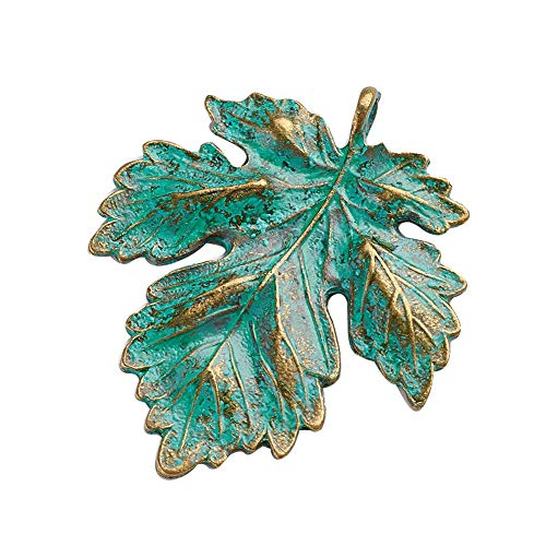 Metal Leaf Charms Charm - ARRICRAFT 20pcs Tibetan Alloy Pendants Metal Beads Leaf Charms Jewelry Finding for Necklace Bracelet Earring Jewelry Making