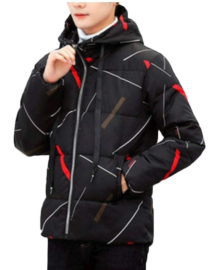 6ea7de082ad Black desolateness Men's Zipper Thicken Thicken Thicken Hooded Down Jackets  Winter Coats 5416ee