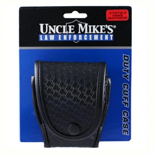Uncle Mike's Single Handcuff Case Black 74782