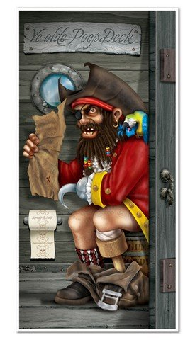 Pirate Captain Restroom Door Cover Party Accessory (1 count) (1/Pkg)