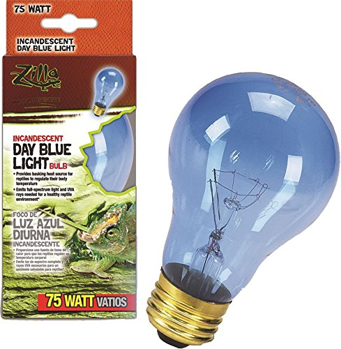 Zilla Reptile Terrarium Heat Lamps Incandescent Bulb, Day Blue, - Light Bright Bulb Incandescent Reptile